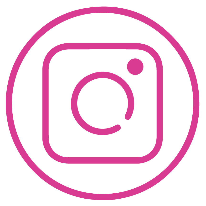Instagram icon in Insurego pink colour